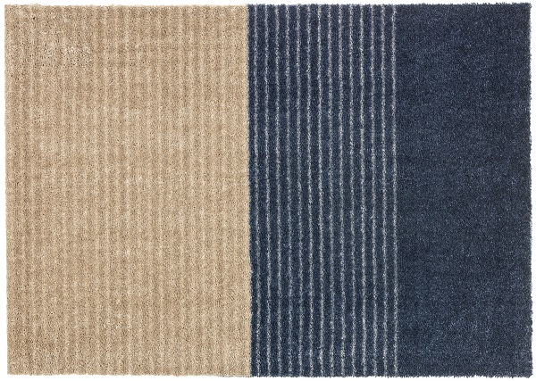 Fußmatte Schöner Wohnen Manhattan 1689 003 044 Streifen anthrazit grau 50x70 cm